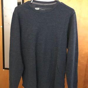 Levi's Men's Pullover Sweater Navy Size Medium
